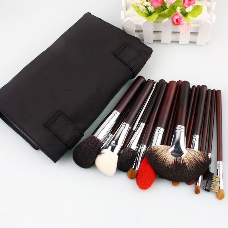 22 pièces brosses cosmétiques Haut De gamme animaux ensemble de brosse de maquillage de cheveux kolinsky cheveux cuivre collier outils de maquillage