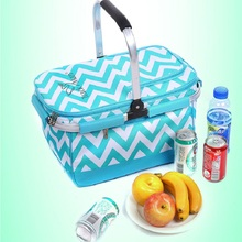 Hot Selling 2013 New  Multi Function Portable Outdoor Picnic Basket Insulation Folding Bag Pack Bags For Food