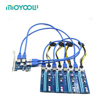 1 To 4 Aad On Card PCIe PCI Express 16X Slots Riser Card PCI E 1X