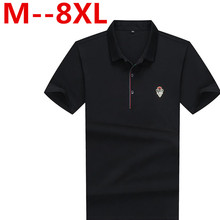 Big size 8XL 9XL 6XL 5XL 4XL New Men Polo Shirt Men Business & Casual solid male polo shirt Short Sleeve breathable polo shirt