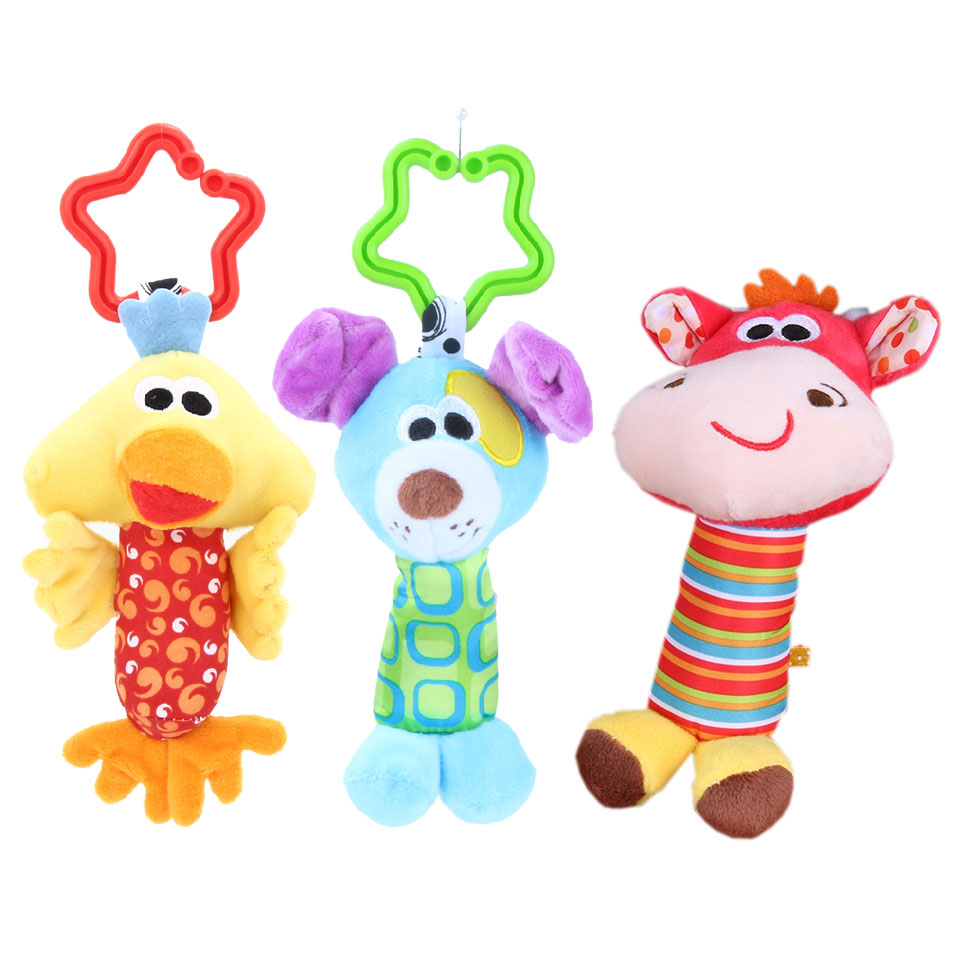1PC Infant Baby Lovely Bell Rattles Toy Newborn Baby Hand Play Toys Gift UK