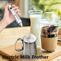 Mini Handheld electric USB Milk Frothers 2 Whisk Hand Milk Foamer Kitchen Mixer for Cappuccino Coffee Egg Beater Drinks Blender