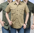HROS Recommend AFS JEEP 2014 Summer Slim Cotton Shirts High Quality Real Man Motorcycle Clothing Short Sleeve Shirts