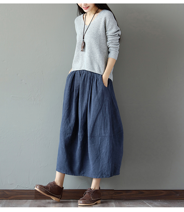 Плюс размер эластичные высокой талией женщины длинная юбка faldas mujer старинные offic бутон юбка юп saias хлопок белье макси длинные юбки 2017