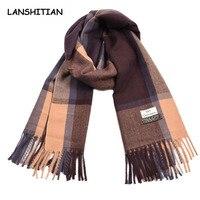 2018 Autumn winter winter scarf ladies Europe and the United States new plaid imitation cashmere warm man shawl wholesale