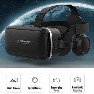 Image 4 - מקורי VR מציאות מדומה 3D משקפיים תיבת סטריאו VR Google קרטון אוזניות קסדת עבור IOS אנדרואיד Smartphone,Bluetooth נדנדה