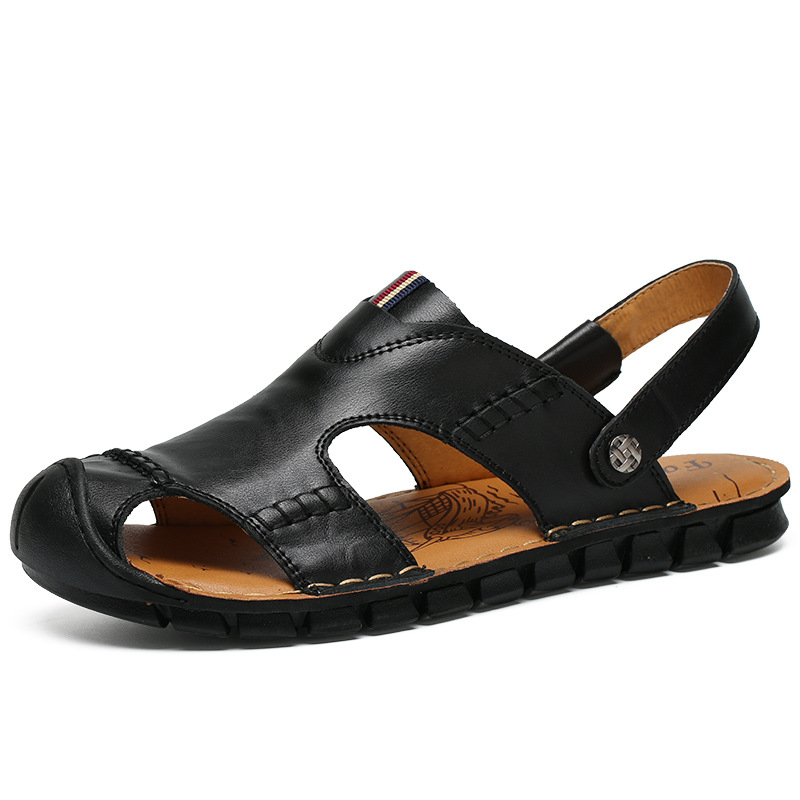 New Summer Soft Male Sandals Men Breathable Light Beach Shoes Casual Large Size Man Slippers Brand Genuine Leather Men Shoes