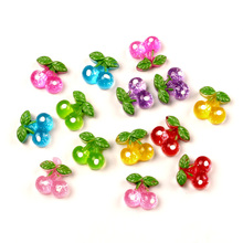 50Pcs Mixed Resin Cherry Beads Decoration Crafts Flatback Cabochon Scrapbooking Fit Phone Embellishments Diy Accessories недорого
