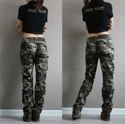 sold worldwide best shoes best deals on New Fashion plus size camouflage trousers camo pants for women ...