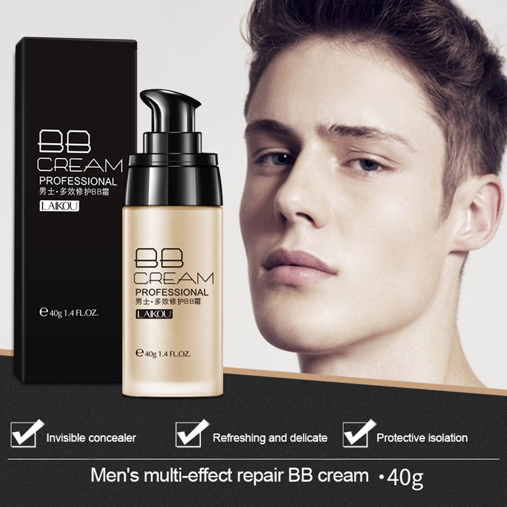 Face Foundation Men BB Cream Long Lasting Concealer Blemish Waterproof Makeup Cream Cosmetics TSLM1