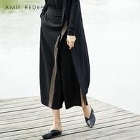 AMII REDEFINE Wide Leg Pants Summer Women 2018 Causal Streetwear Striped Elastic Waist High Waist Female Pant