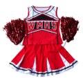 Tank top Falda Pom cheerleader cheer líderes M (34-36) 2 unidades de traje nuevo traje rojo