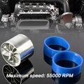 Universal Tornado Fit Turbo Single Fan Air Intake Fuel Saver Fan Turbonator Silver