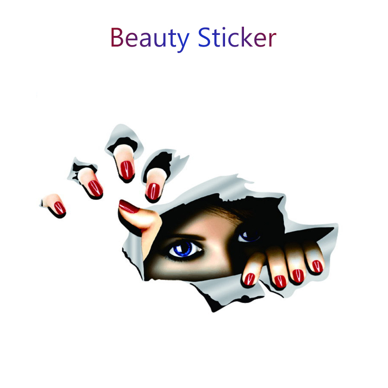 Atreus Car Styling 3d Eyes Stickers Funny Peeking For Subaru