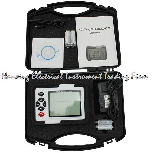 Portable Digital CO2 Meter CO2 Monitor Detector HT-2000 Gas Analyzer 9999ppm CO2 Analyzers Temperature Relative Humidity Test