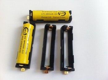 500pcs 1042 BLACK single 18650 battery holder sled clip - Gold plated