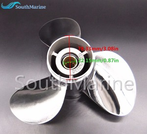 Image 5 - 11 1/8x14 F Boat Motor Stainless Steel Propeller For Yamaha 40HP 50HP Outboard Motor 11 1/8 x 14  F