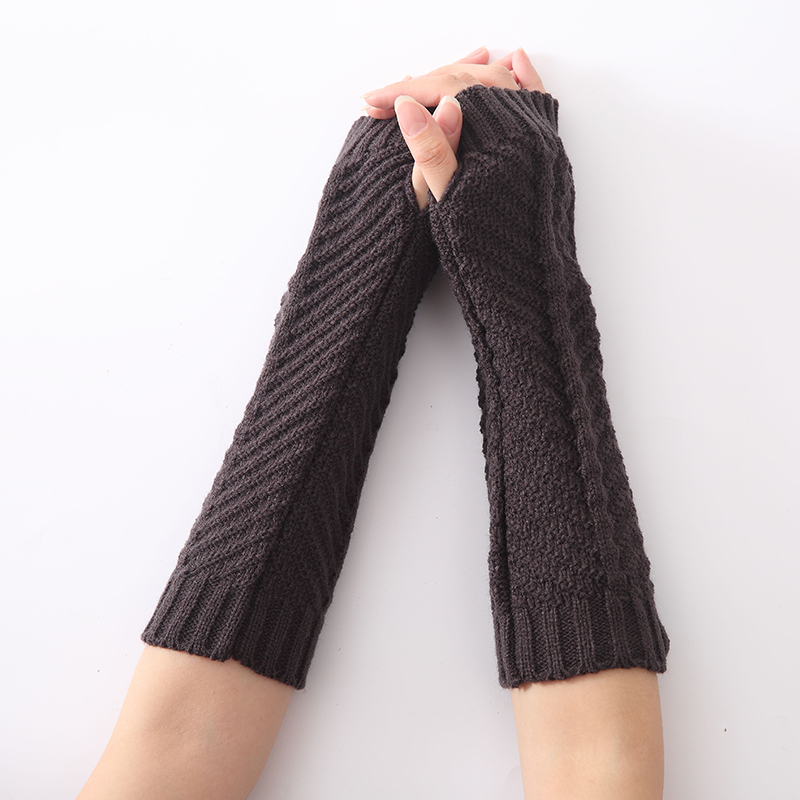 New Fashion Fish-shaped Women Knitted Arm Warmers Girl's Winter Long Sleeves Gloves  Fingerless Gloves