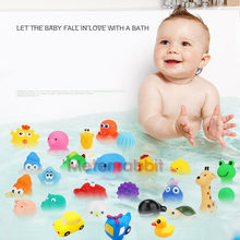 Duck soft Baby Squeaky Pool Float For Children kids Latex Yellow Duck Squeeze-sounding Dabbling Water Bath Bathtub Toy(China)