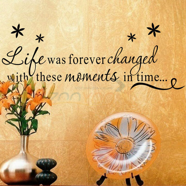 61*23cm \'\'Love was forever\'\' Family creative wall decal decorative ...