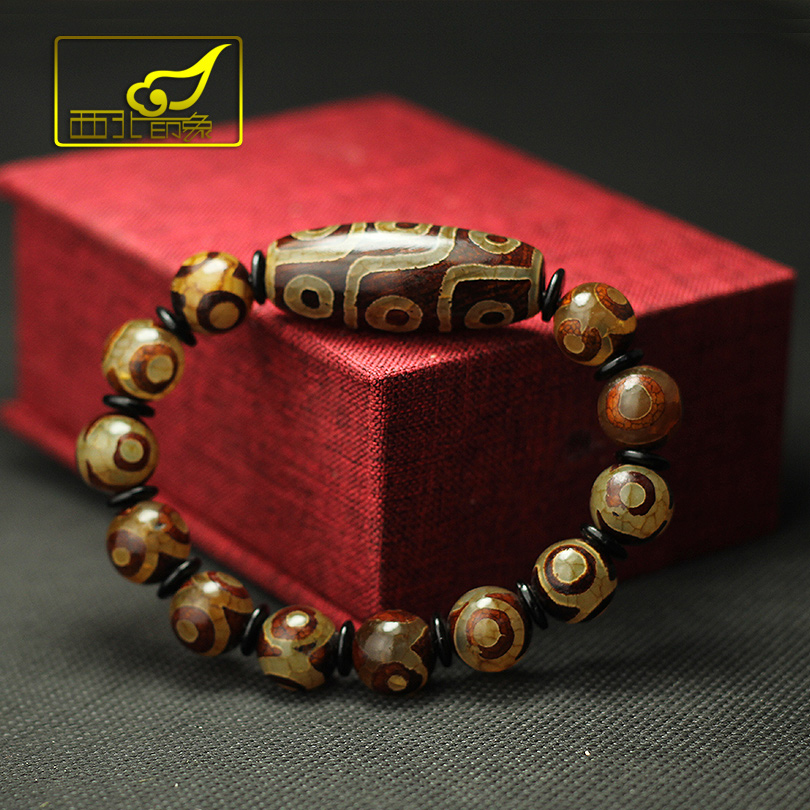 Tibetan Dzi Beads Bracelet Ethnic Style Great Quality Nine Eyes And Three Eyes Natural Stone Materials Free Shipping