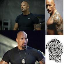 Temporary Tattoo 'Fast&Furious' Dwayne The Rock Johnson Tattoo Big Size Arm Waterproof Removable Flash Tattoo Tatoo For Man,1pc