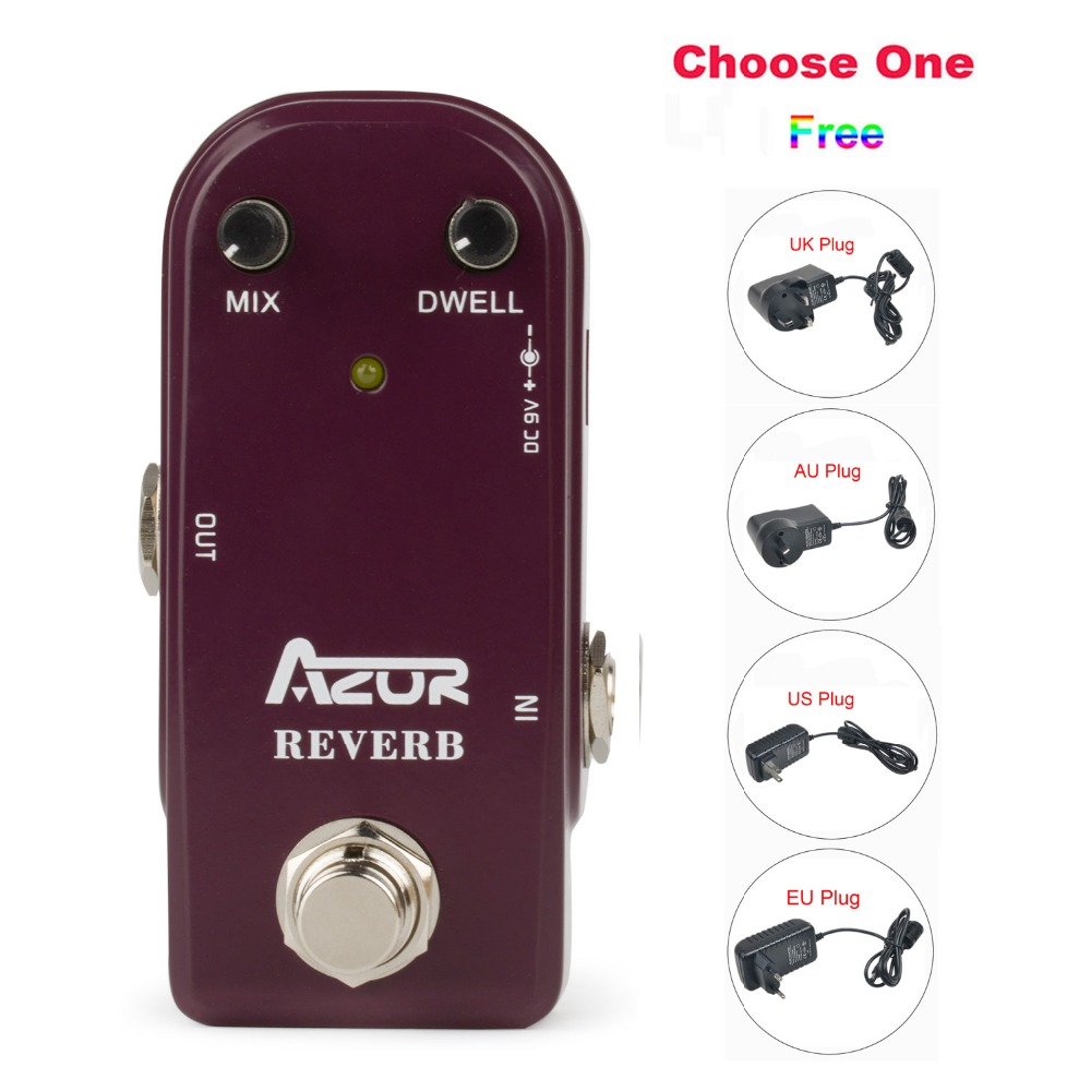 AP-311 Reverb Mini Guitar Effect Pedal with Ture Bypass+9V1A Adapter and 8 Heads Multi-interface Effects Connecting Cable хай хэт и контроллер для электронной ударной установки roland fd 9 hi hat controller pedal