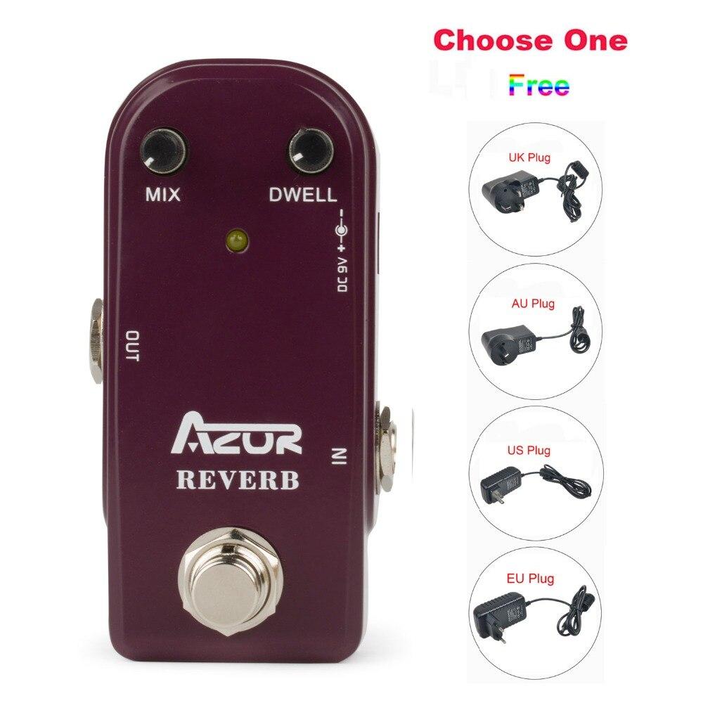 AP-311 Reverb Mini Guitare Pédale D'effet avec Ture Bypass + 9V1A Adaptateur et 8 Têtes Multi-interface Effets de Raccordement des câble