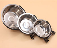 High quality Stainless Steel Hanging Dog Bowl Fixed hanging cage Pet Bowls