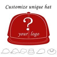 Custom Trucker Hat Flat Bill Visor Free Logo Men Women Summer Snapback Caps Sports Team Group Name Picture Print Free Shipping