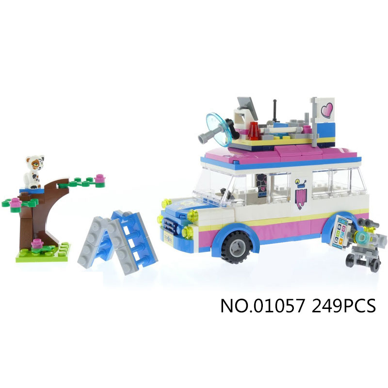2018 my good friends girls clubs Olivia mission vehicle building block dog figures van bricks 41333 educational toys for gifts