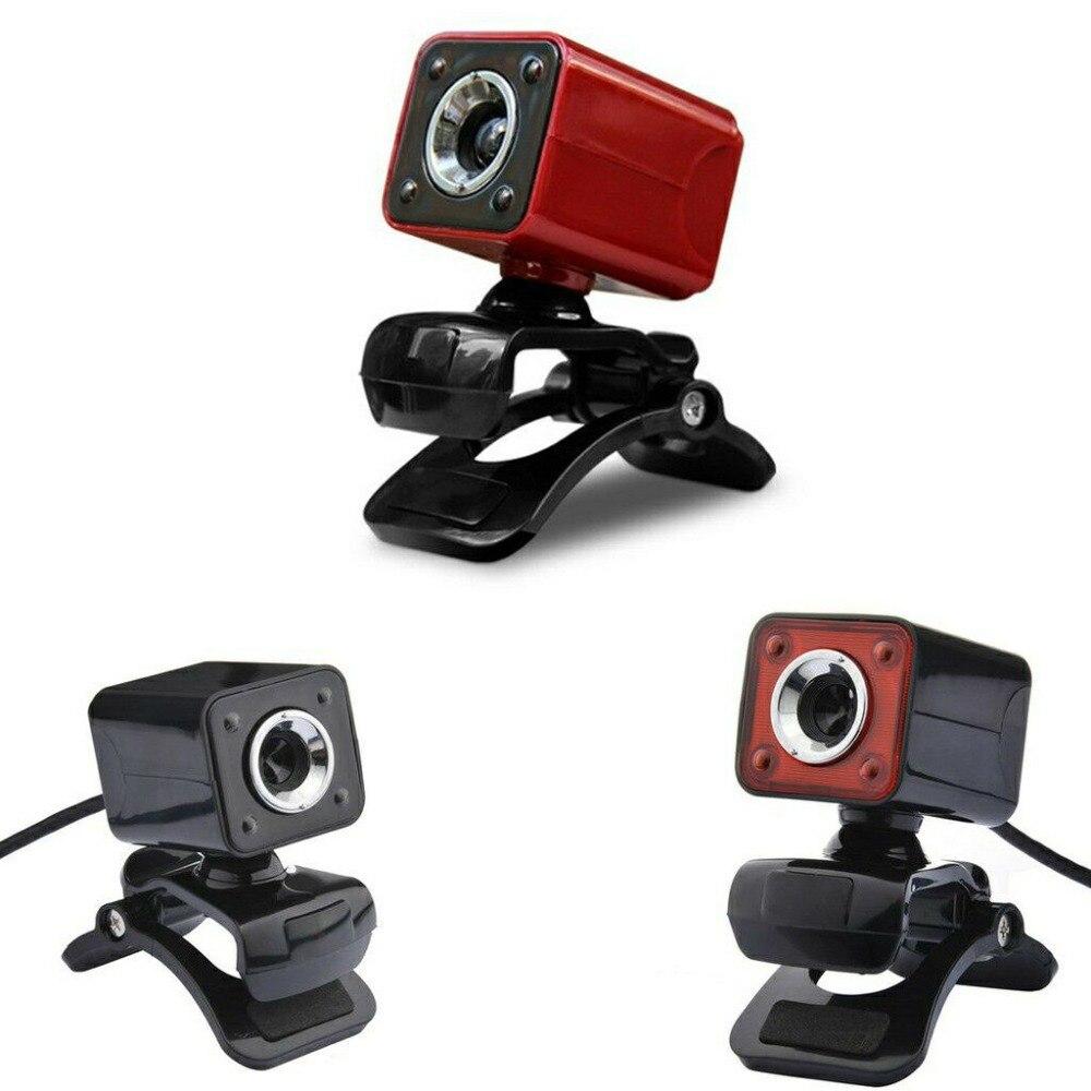 Basix WebCam USB Câmera De Alta Definição HD Camera 4 Luzes LED Usb Computador Webcam com MICROFONE web Câmera de 360 Graus para computador