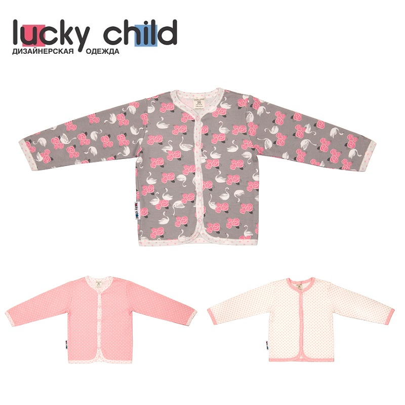 Hoodies & Sweatshirt Lucky Child for girls A2-120 Swans Blouse Kids Baby clothing Children clothes newborns made in russia