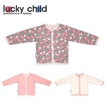 Кофточка Lucky Child для девочек (Лебеди) [сделано в России, доставка от 2-х дней]