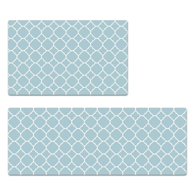 Lange Küche Matte Teppich Hohe Qualität Teppich (Blau, Beige, Grün ...