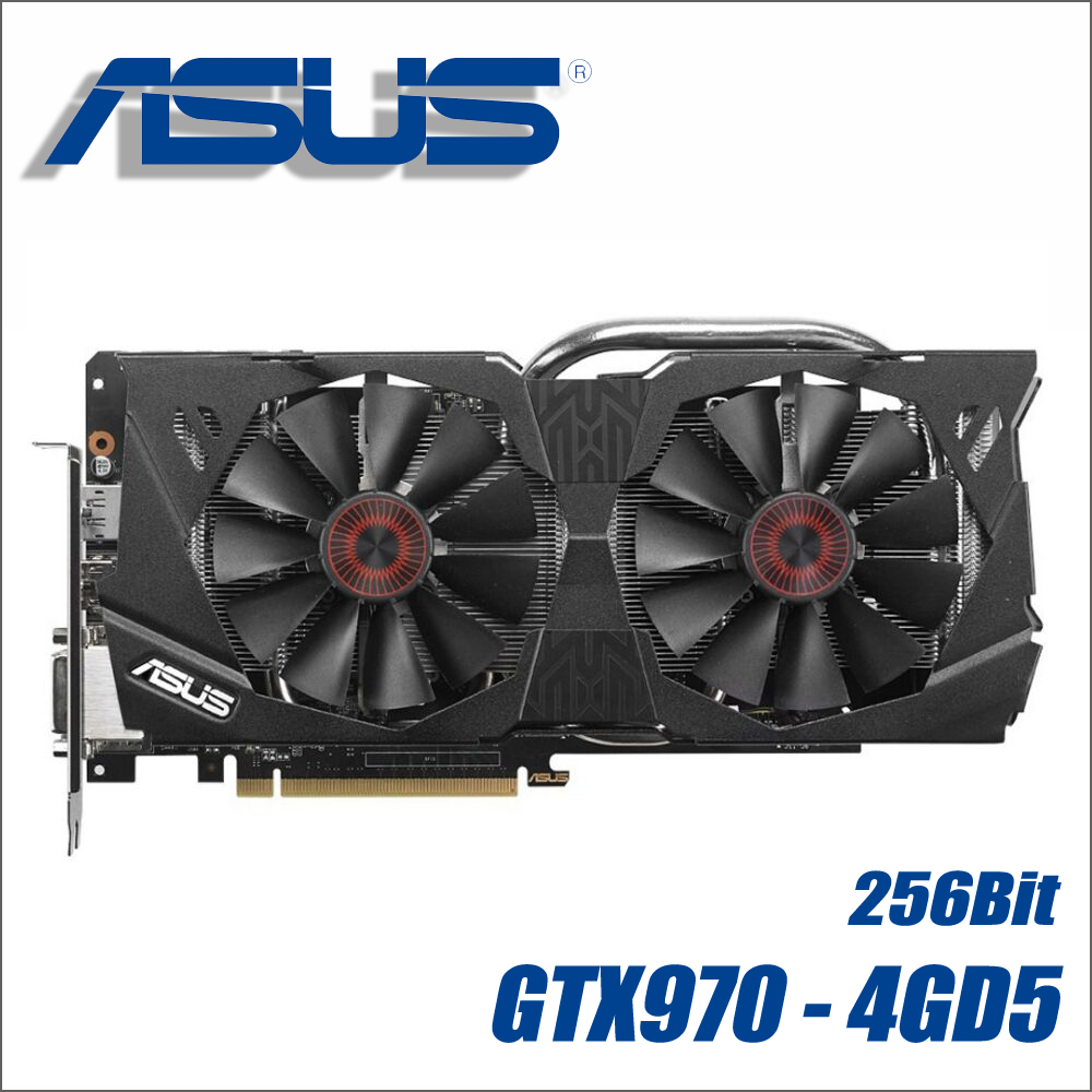 used ASUS Video Card Original GTX 970 4GB 256Bit GDDR5 Graphics Cards for nVIDIA VGA Cards Geforce GTX970 Hdmi Dvi game 1050used ASUS Video Card Original GTX 970 4GB 256Bit GDDR5 Graphics Cards for nVIDIA VGA Cards Geforce GTX970 Hdmi Dvi game 1050