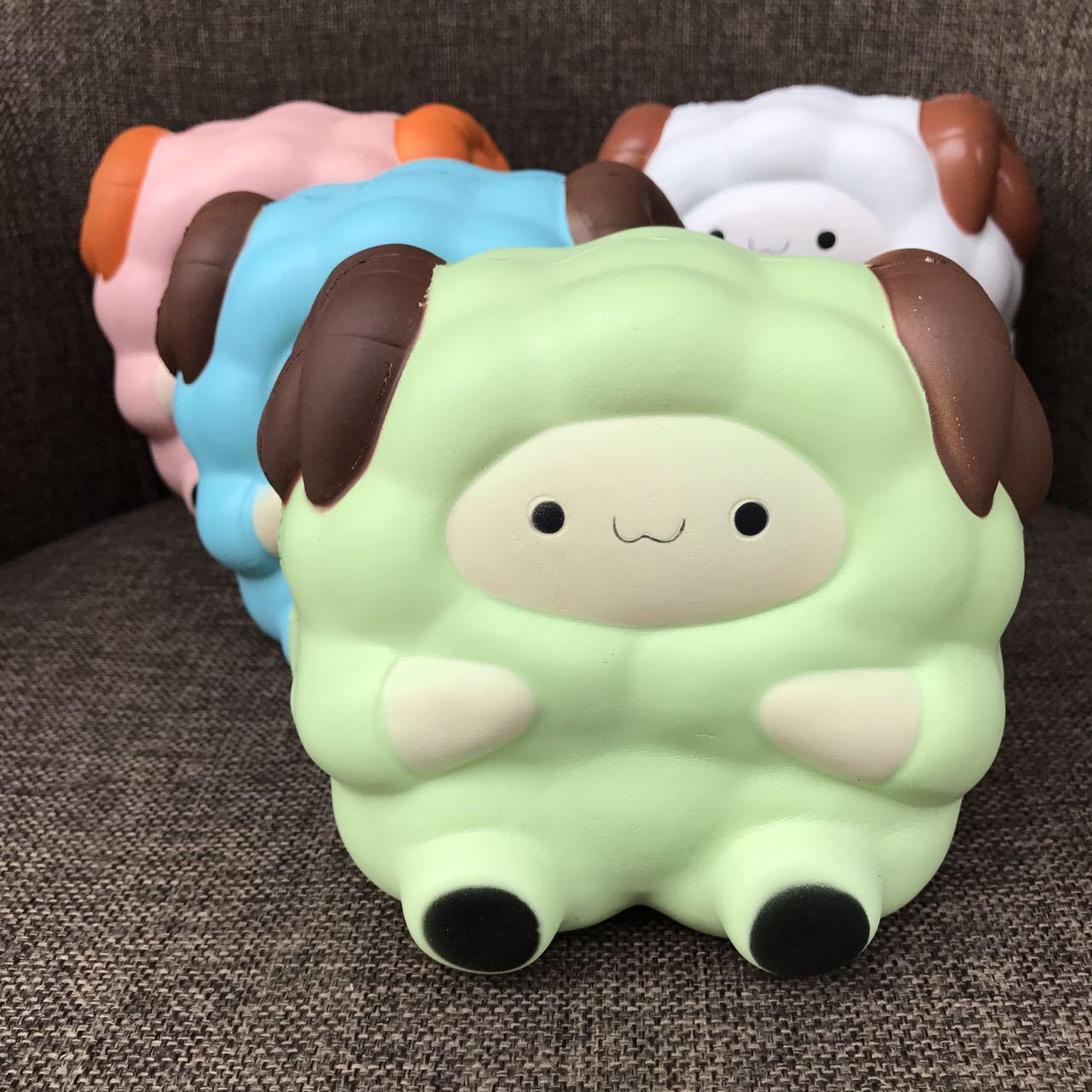 Jumbo Cartoon Big Sheep Squishy 13.5CM Slow Rising Squeeze Stress Reliever Toy Cake Bread Fun Toy Kid Birthday Christmas Gift P2