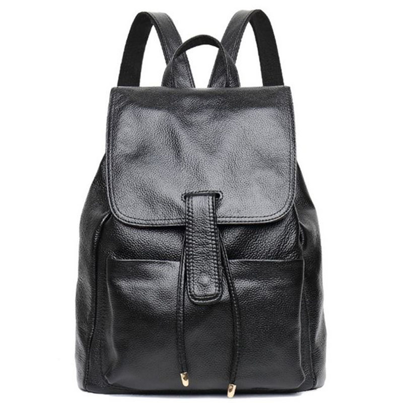 New Fashion Genuine Leather Bag Womens Backpack Brand Luxurious Cow Leather Lady Bakcpacks Shoulder Bags Schoolbag Backpack ...