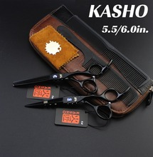 KASHO 5.5/6 inch Original Professional Hairdressing Scissors Hair Cutting barber shears thinning tesoura de cabeleireiro VH048