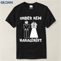 Create Shirts Men S Under New Management Funny Groom Wedding Bachelor Party Short Top O Neck