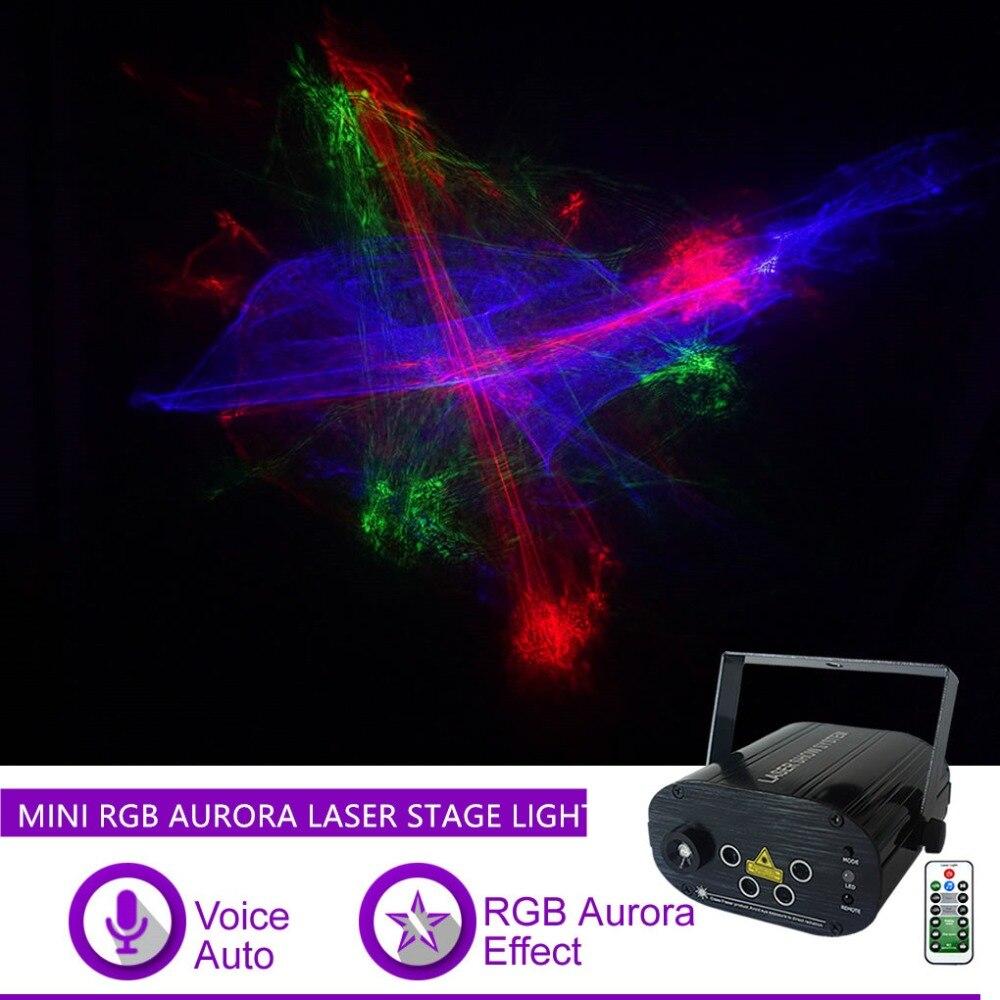 lente sharelife mini 4 rgrb hipnotico aurora mix de luz laser led azul festa em casa