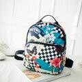 2016 nova Impressão flor Mochila Mulheres Sacos De Escola para Adolescentes Meninas Mochilas Bookbags Bonito Do Vintage das mulheres do Sexo Feminino mochila