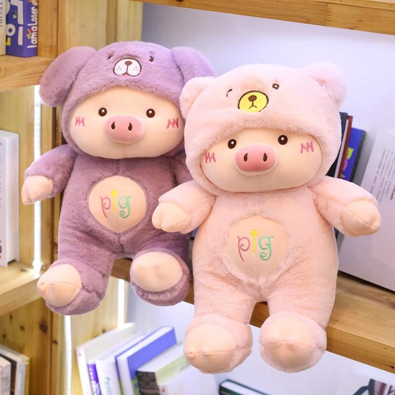 Kawaii Cross-Dressing Piggy Plush Toy 2