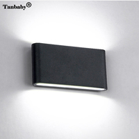 Tanbaby 12W COB LED Wall Sconce Waterproof Wall Lamp Aluminum Up An Down Dual Head Cube