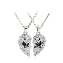 Love Rhinestone Pendant Necklace