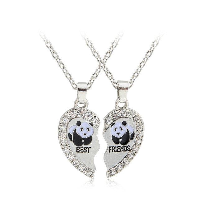 Love Rhinestone Pendant Necklace