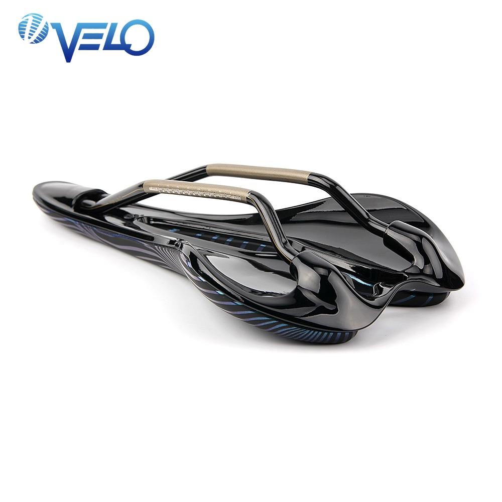 Selle de vélo de marque Velo pour course ti-alliage Gel selle de vélo léger siège de vélo de route confort siège de selle de vélo ergonomique - 2