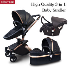 Babyfond baby strollers 3 in 1 EU high quality safety 2 in 1 baby strollers with car seat leather aluminium alloy frame brand new arrival brand baby strollers 3 in 1 baby carriage super light baby strollers eu standard 3 in 1 baby strollers
