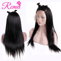 Rcmei 360 Lace Frontal Wigs Brazilian Straight Remy Human Hair 360 Frontal Wigs Natural Pre Plucked With Baby Hair 150% Density