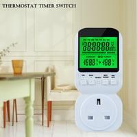 Multi function Thermostat Timer Switch Socket with Sensor Probe Adjustable Energy saving Mechanical Timer Socket